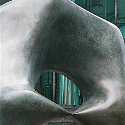 Henry Moore Hong Kong 'Oval with Points'