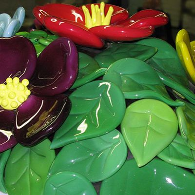 Treating Jeff Koons 'Mound of Flowers'